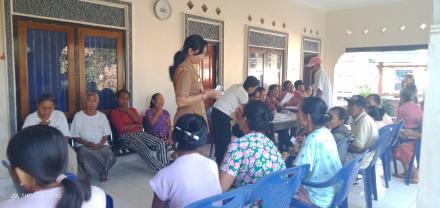 Pelaksanaan Posbindu Desa Sinabun
