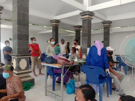 kembali dilaksanakan vaksinasi di Desa Sinabun vaksin astrazeneca Tahap I/Dosis I sebanyak 462 orang